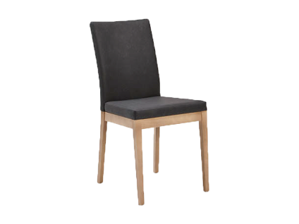 Schösswender Quattro Stuhl Sandra mit gepolstertem Sitz und gepolsterter Lehne Stuhl ohne Armlehnen Polsterstuhl mit Holzgestell in wählbarer Ausführung und mit wählbarem Bezug passend zu Programmen Quattro und Kreta