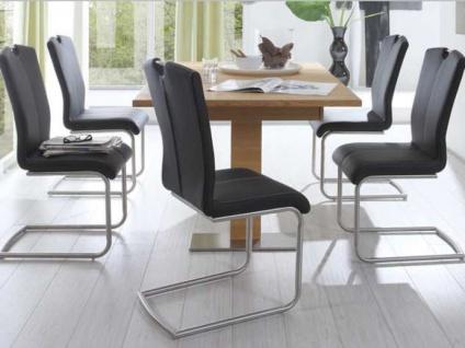 MWA Aktuell Stuhlsystem Crazy in Kunstleder Stoff oder Echtleder Polsterstuhl für Esszimmer oder Küche Bezug Gestell und Sitzschale wählbar