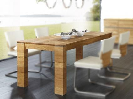 Wimmer acerro Esstisch 4-Fuß-Esstisch Länge wählbar Breite x Höhe ca. 95 x 77 cm Massivholz mit Auszugsfunktion für Esszimmer und Küche