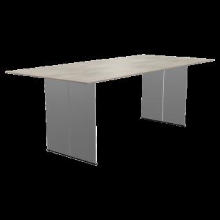 Santiago Esstisch mit Keramik-Tischplatte von Bert Plantagie rechteckiger Tisch mit Wangen Tischplatten sowie Gestellausführung und Größe wählbar