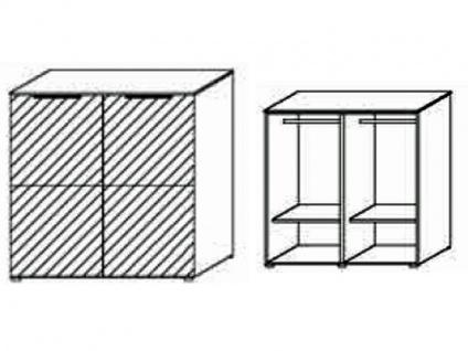 Schrank-Kommode mit 2 Türen, Front Dekor matt