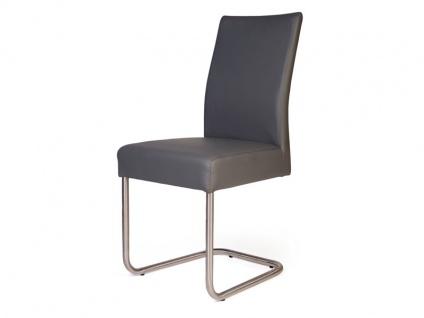 Standard Furniture Schwingstuhl Kadira mit Komfort-Kaltschaumsitz Polsterstuhl für Wohnzimmer oder Esszimmer Gestellausführung und Bezug wählbar - Vorschau 1