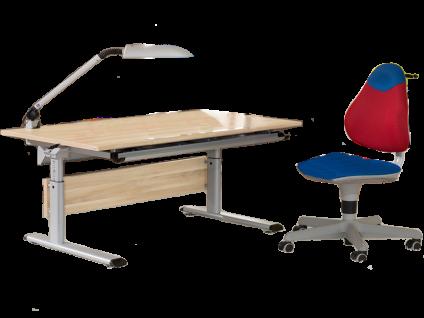 Paidi Schoolworld Marco 2 120 Schreibtisch in Eiche Nachbildung mit Kinder- und Jugendstuhl Pepe