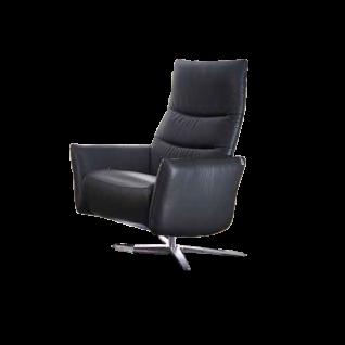 Willi Schillig Funktionssessel Salsaa 32600 medium mit einer exklusiven manuellen Sitz- und Rückenverstellung mittels eines seitlichen Chromhebels sowie einer serienmäßigen stufenlosen Kopfteilverstellung und einem einzigartigen Kreuzfuß in Stahl nickel-s
