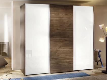 Nolte Attraction Wood Schwebetürenschrank 3-türig Kleiderschrank mit Holztür- und Glasfront wählbar