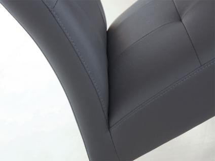 Standard Furniture Stuhl Henry 2 Schwingstuhl mit Edelstahl-Rundrohr-Gestell für Wohnzimmer oder Esszimmer Bezug in Kunstleder wählbar - Vorschau 4