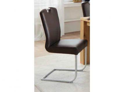 Niehoff Schwingstuhl, Freischwinger 4281 Stuhl für Wohnzimmer und Esszimmer Bezug Echtleder