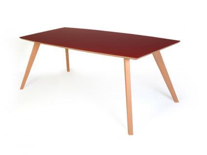 Standard Esstisch Trondheim mit Holzplatte oder mit Glasplatte Tisch für Esszimmer Größe und Ausführung wählbar