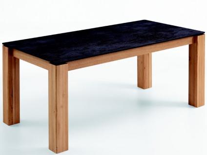 Niehoff Roca Tischsystem Esstisch 9433 und 9463 Ausziehtisch Gestell Massivholz mit Tischplatte Keramik in verschiedenen Größen