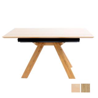 K+W Silaxx Esstisch 5155 mit Massivholz-Gestell und Tischplatte furniert in zwei Holztönen ideal für Ihr Esszimmer