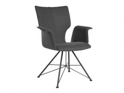 Bert Plantagie Stuhl Joni 733 Spin mit Uni-Polsterung und Armlehnen Polsterstuhl für Esszimmer Gestellausführung und Bezug in Leder oder Stoff wählbar