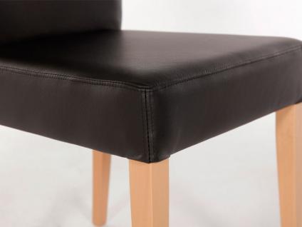 Standard furniture Stuhl Cora mit kantenumlaufenden Ziernähten Polsterstuhl für Esszimmer und Wohnzimmer Gestellausführung und Bezug wählbar - Vorschau 5