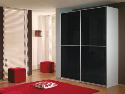 Rauch Packs Linea Ausführung C - Schwebetürenschrank, Korpus wählbar, Front als Glas- Spiegelauflage wählbar, in verschiedenen Größen erhältlich.