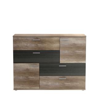 Forte Skive Kommode SKVK46 mit zwei Türen und vier Schubkästen Sideboard für Ihr Wohnzimmer Esszimmer Schlafzimmer oder Kinderzimmer Dekor wählbar - Vorschau 2