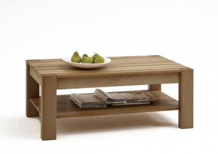Elfo-Möbel Couchtisch Nena 2772 rechteckig in Wildeiche geölt Massivholz mit Ablage für Ihr Wohnzimmer oder Gästezimmer