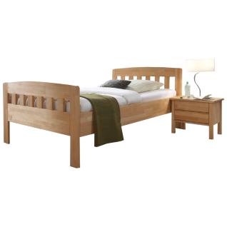 Dico Möbel Komfortbett aus Massivholz Farbausführung und Liegefläche wählbar optional mit Nachttisch möglich