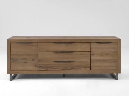 Bodahl Manhattan Anrichte 10254 rustic oak Massivholz Kommode mit drei Schubkästen und zwei Türen für Wohnzimmer und Esszimmer in sieben Ausführungen wählbar