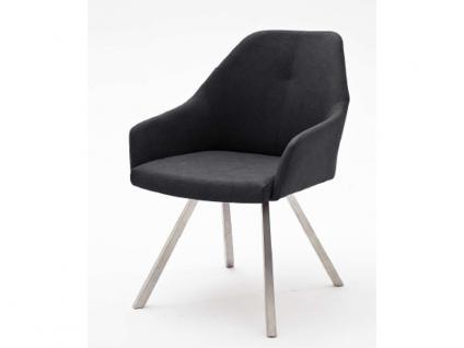 MCA furniture 2er Set Stuhl Madita Ausführung A - mit Kunstlederbezug Argentina, Farbe wählbar und Gestell 4-Fuß oval oder eckig, für Esszimmer und Wohnzimmer - Vorschau 3
