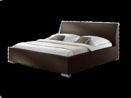 Meise Möbel ALTO-COMFORT Polsterbett mit Kunstlederbezug in braun weiß schwarz oder muddy und glattem Kopfteil Liegefläche wählbar
