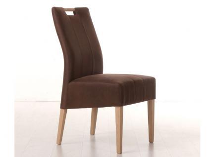 Standard Furniture Stuhl Vigo 1 mit Griff im Rücken für Esszimmer Holzausführung und Bezug wählbar