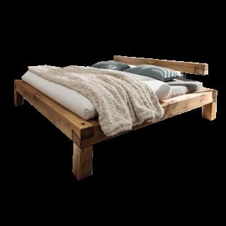 TPT Möbel GmbH Balkenbett IV mit Kopfteilaufsatz IV und Holzfüßen Liegefläche und Nachtkommoden in L-Form wählbar
