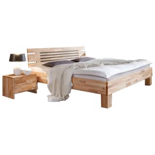 Dico Möbel Massivholzbett Classic System mit Kopfteil Liegefläche und Farbausführung wählbar optional mit Nachttisch möglich