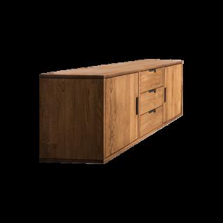 Skalik Meble Mido Wohnzimmer oder Esszimmer Sideboard wählbare Füße oder zum hängen Front und Korpus Eiche Massivholz geölt