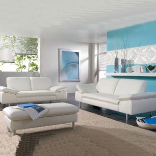Willi Schillig Einzelsofas Loop 29858 kombiniert mit einem übergroßen Hocker und mit einem exklusiven Echtlederbezug in der Farbe weiß Z59/42 für ein exklusives und luxuriöses Ambiente in Ihrem Wohnbereich mit einer ansprechenden Seitenteilverstellung für - Vorschau 2