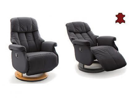 MCA furniture Calgary Relaxsessel L Comfort Bezug aus Leder/PVC Gestell und Drehteller aus Formholz Bezugs- und Gestellfarbe wählbar