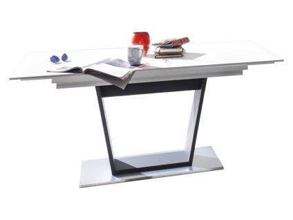 Mäusbacher Micelli Esstisch ca. 160/240x90cm ausziehbarer Säulentisch für Ihr Esszimmer mit Synchronauszug Ausführung wählbar