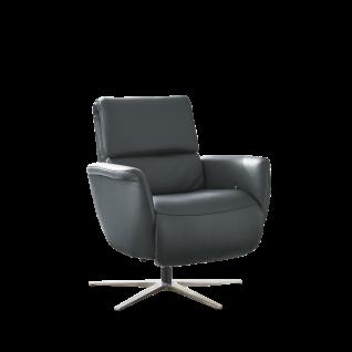 Hukla Relaxsessel LC02 mit erstklassiger manueller Verstellung der Beinauflage durch Körperdruck