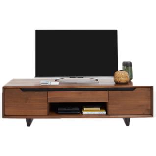 Bodahl Concept 4 you TV-Bank Extreme in Nussbaum teilmassiv mit zwei Türen sowie einer Schublade und einem offenem Fach ideal für Ihr Esszimmer oder Wohnzimmer