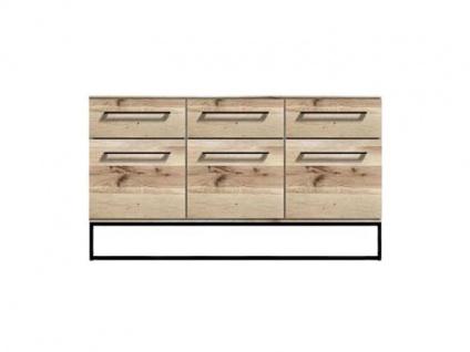 Niehoff Time OUT Sideboard 2404 Balkeneiche natur Massivholz geölt Front und Korpus Massivholz Kommode für Wohnzimmer und Esszimmer mit Schubkästen und Türen
