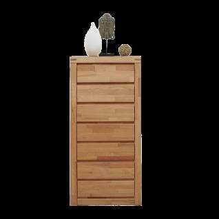 Elfo-Möbel Delft Schubladen-Kommode 6223 in Kernbuche geölt Massivholz mit 7 Schubfächer für Ihr Schlafzimmer Wohnzimmer oder Esszimmer