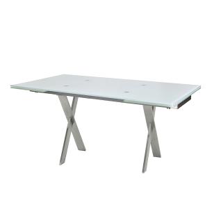 MWA Aktuell Nova Esstisch mit Gestell FET Tisch mit X-Säulen und rechteckiger Tischplatte für Esszimmer oder Küche Gestellfarbe Tischplattenausführung und Größe wählbar