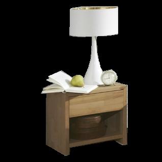 ELFO Nachtkommode Jenny NA-JEN in massiver Wildeiche mit einem Schubkasten für Ihr Schlafzimmer