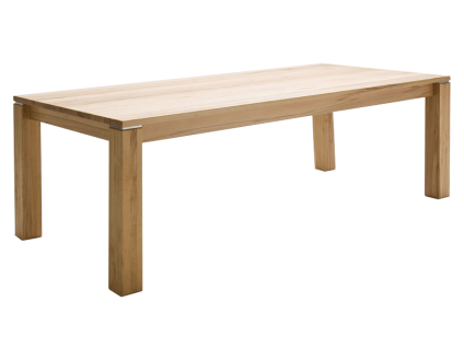 Wimmer Esstisch Geoma mit Auszugsfunktion und 4-Fuß-Gestell Ausführung Länge und Breite einseitiger oder beidseitiger Zargenauszug wählbar Tisch für Ihr Esszimmer oder Ihre Küche