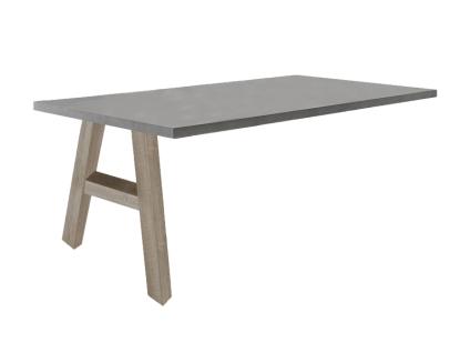 Mäusbacher Mister Office Schreibtisch-Ansatz mit wählbarer Gestellform Tischplattengröße und mit wählbarem Dekor für Tischplatte und Gestell Schreibtisch für Ihr Arbeitszimmer Büro oder Homeoffice