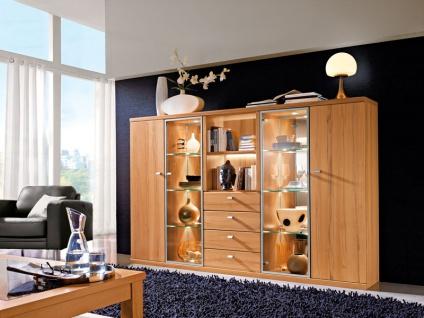 RMW Rietberger Largo Highboard 6921 für Wohnzimmer Ausführung Front / Korpus Beleuchtung wählbar