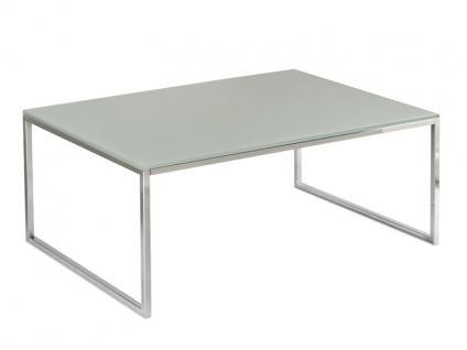 Vierhaus Couchtisch Varianta 2717 Größe ca.120 x 70 cm mit Gestell in Stahl Chrom, Tischplatte-Ausführung und Rollensatz wählbar