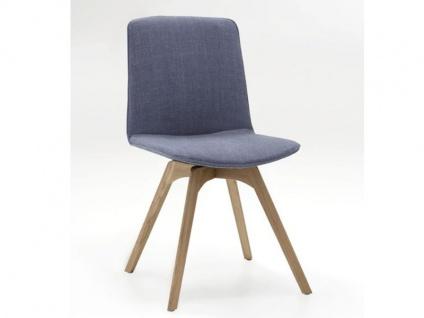 Hartmann JON 7130 Stuhl Finja 0682 in Gestell Massivholz Kerneiche Umato gebürstet mit Elastic-Aktiv-Federung für aktives Sitzen Polsterstuhl für Esszimmer Bezug wählbar
