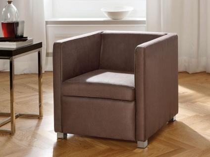 Candy Harlem Einzelsessel mit Sitzkissen für Wohnzimmer Sessel Harlem Bezug Stoff oder Leder wählbar