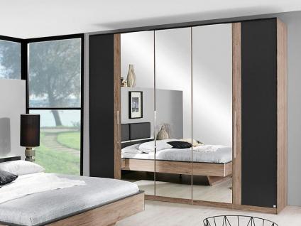 Rauch Drehtürenschrank Colette Dialog Kleiderschrank mit Spiegel ohne Beleuchtung für Schlafzimmer - Größe und Front / Korpus wählbar