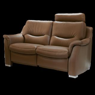 Hukla 2-Sitzer SF1502 im geschmackvollen Design auf beliebten bodennahen Alufüßen