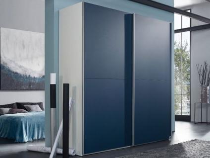 Rauch Select YourJOYce Schwebetürenschrank 2-türig Front in Effektfarbe blau matt Korpus in alpinweiß Breite ca. 201 cm