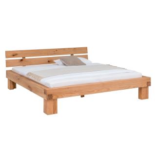 Woodlive Bett Timber in Kernbuche Massivholz natur geölt Liegefläche wählbar für Schlafzimmer oder Gästezimmer