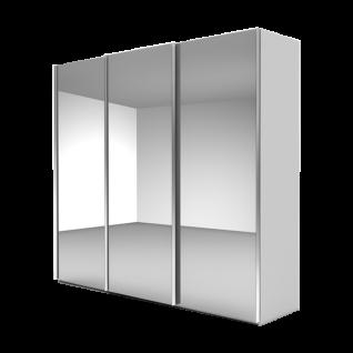 Nolte Möbel Marcato 2.1 Schwebetürenschrank Ausführung 1 ohne Sprossen Korpus in Dekor und Front komplett Kristallspiegel Schrankgröße wählbar