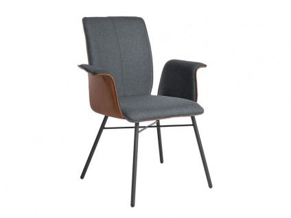 Bert Plantagie Stuhl Tara Four 832 mit Bi-Color-Polsterung (zweifarbig) Polsterstuhl für Esszimmer Esszimmerstuhl mit verschiedenen Gestellausführungen und Bezug in Leder oder Stoff wählbar