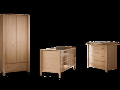 Paidi Eike Babyzimmer bestehend aus Kinderbett 70x140 cm Kommode mit Wickelaufsatz und 4 Schubkästen und Kleiderschrank mit 2 Türen und 1 Schubkasten
