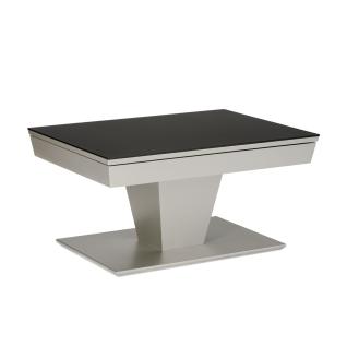 Eve collection Couchtisch Carlo oder Carlo Deluxe mit Höhenverstellung Ilse Comfort Lift und verschiebbarer Tischplatte mit Stauraum Größe und RAL-Farbe des Gestells der Tischplatte und Bodenplatte wählbar Tisch für Ihr Wohnzimmer